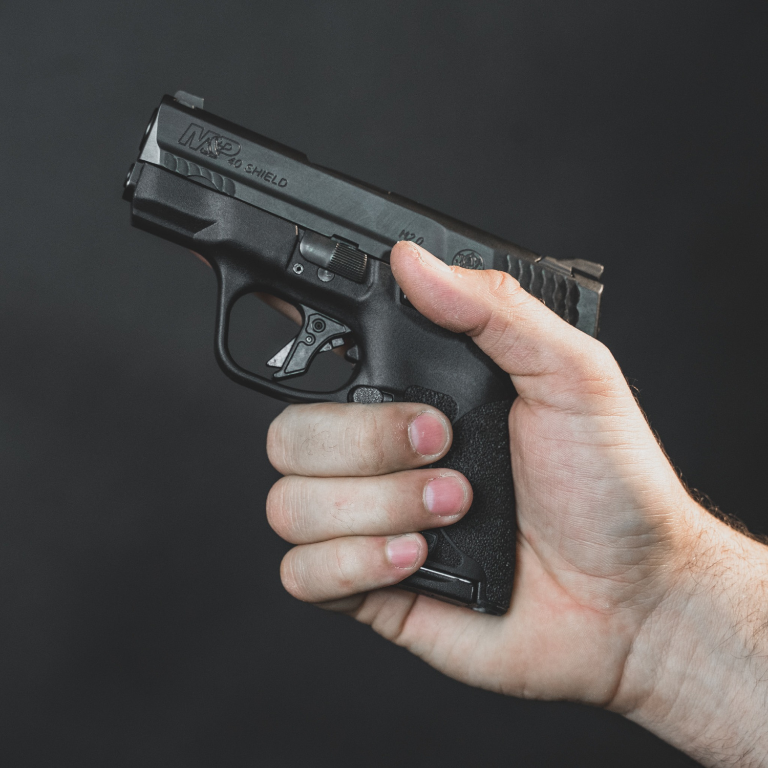 Overwatch Precision's TAC trigger installed in an M&P Shield.