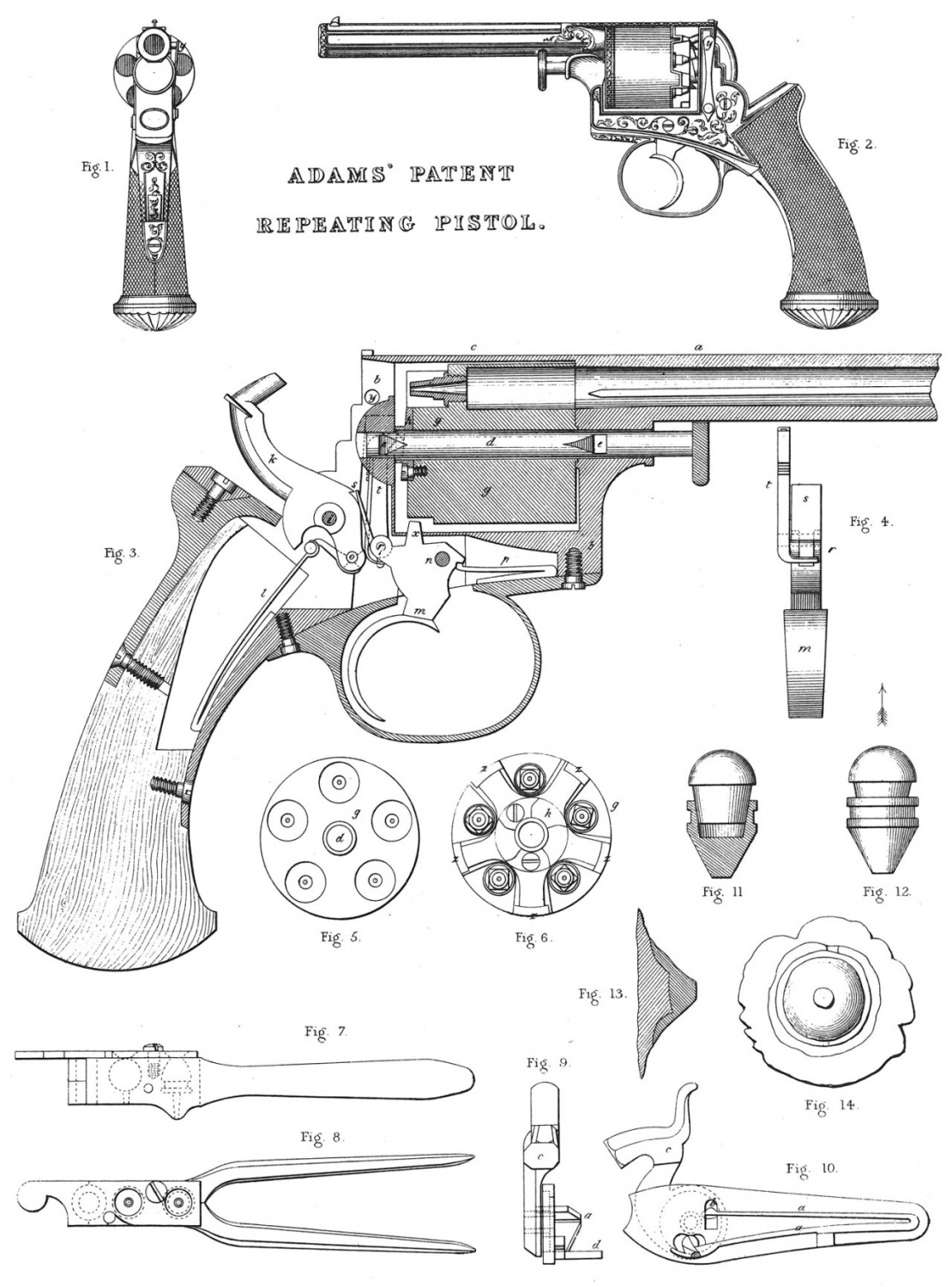 double action revolver patent