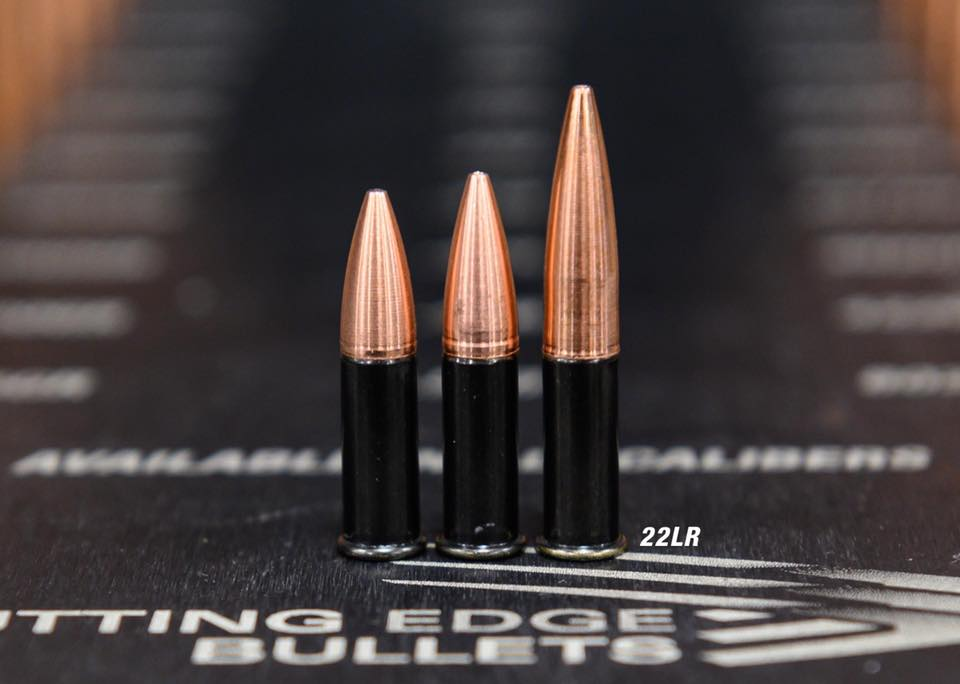 Cutting Edge Bullets Develop .22 LR ELR Ammo with Solid Spitzer Bullets -