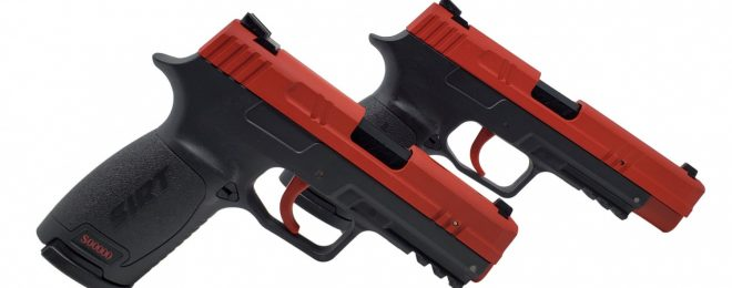 The SIRT 20 and 20C from Next Level Training, analogous to Sig's standard and carry P320s.