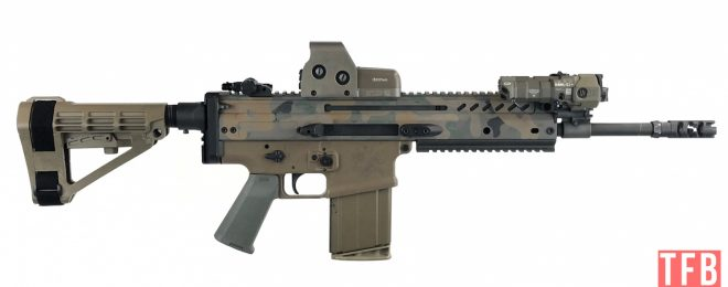 side profle of SCAR17Shorty