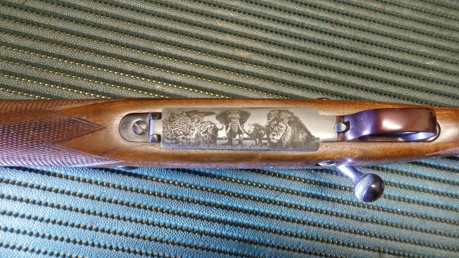 M.R. New System Arms .458 engraved.