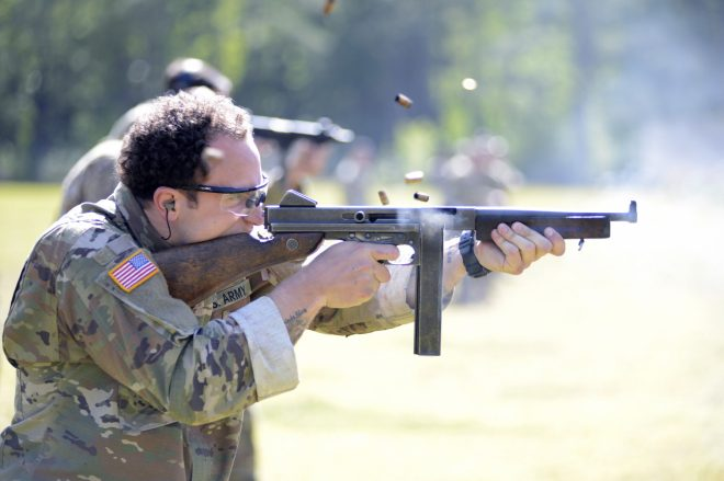 POTD: Thompson M1A1 Submachine Gun in Full-Auto