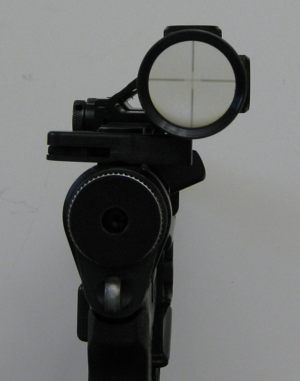 The offset scope mount may be sub-optimal for shooting accuracy, but it's key for the replica's aesthetic accuracy.