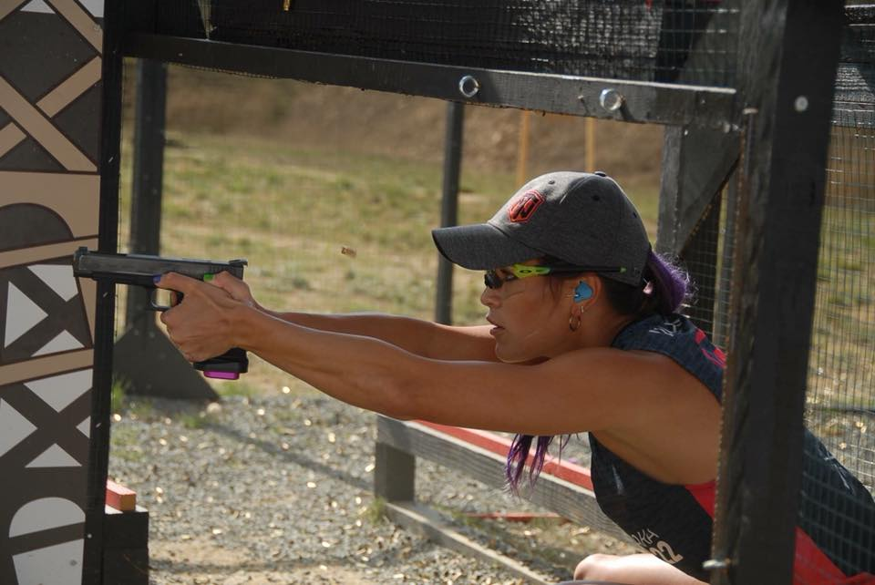Tori Nonaka at a shooting competition