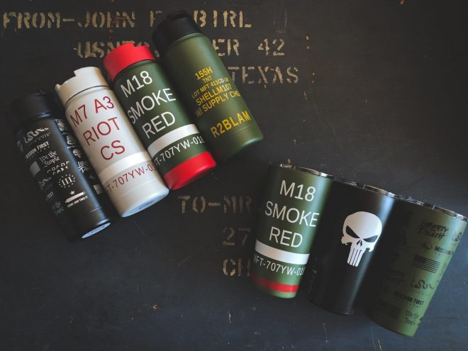 Mission First Tactical drinkware, available now.