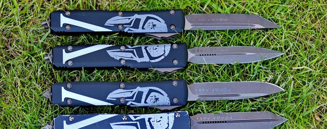 Microtech Molon Labe Sparta automatic knives collection