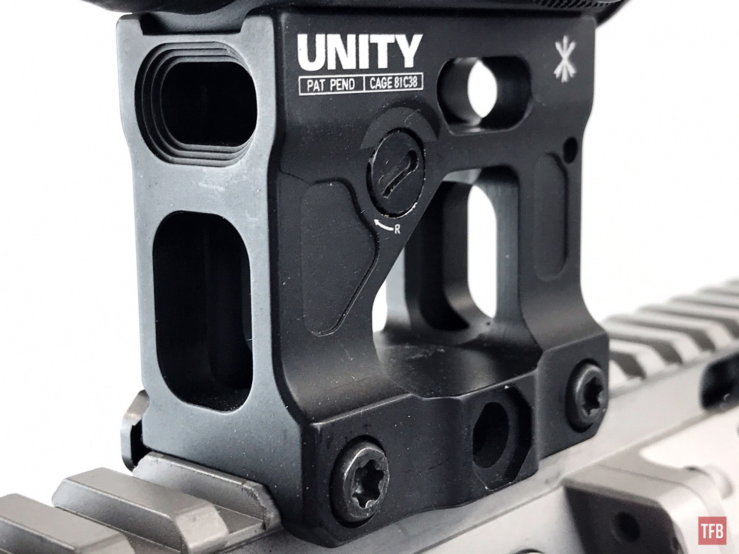 Unity Tactical FAST Micro mount close up
