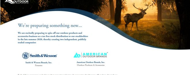 American Outdoor Brands makes strides to execute planned split with Smith & Wesson.