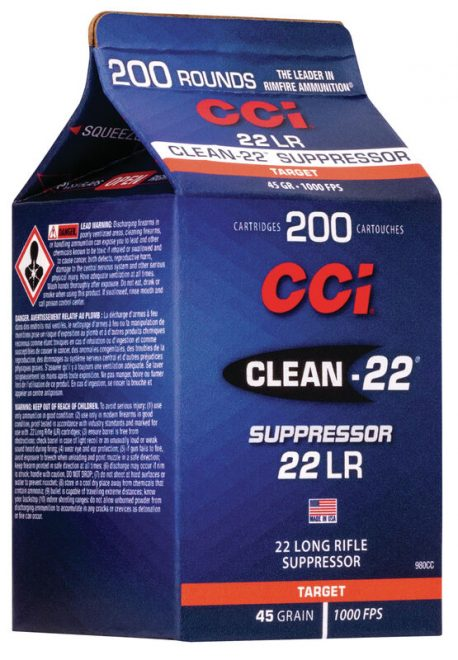 CCI Ammunition introduces new Clean-22 suppressor-friendly ammo.