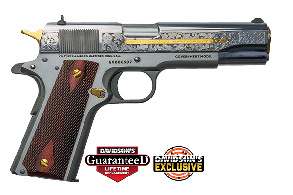 The new Davidson's exclusive .38 Super 1911 with Colt and Baron Engraving.