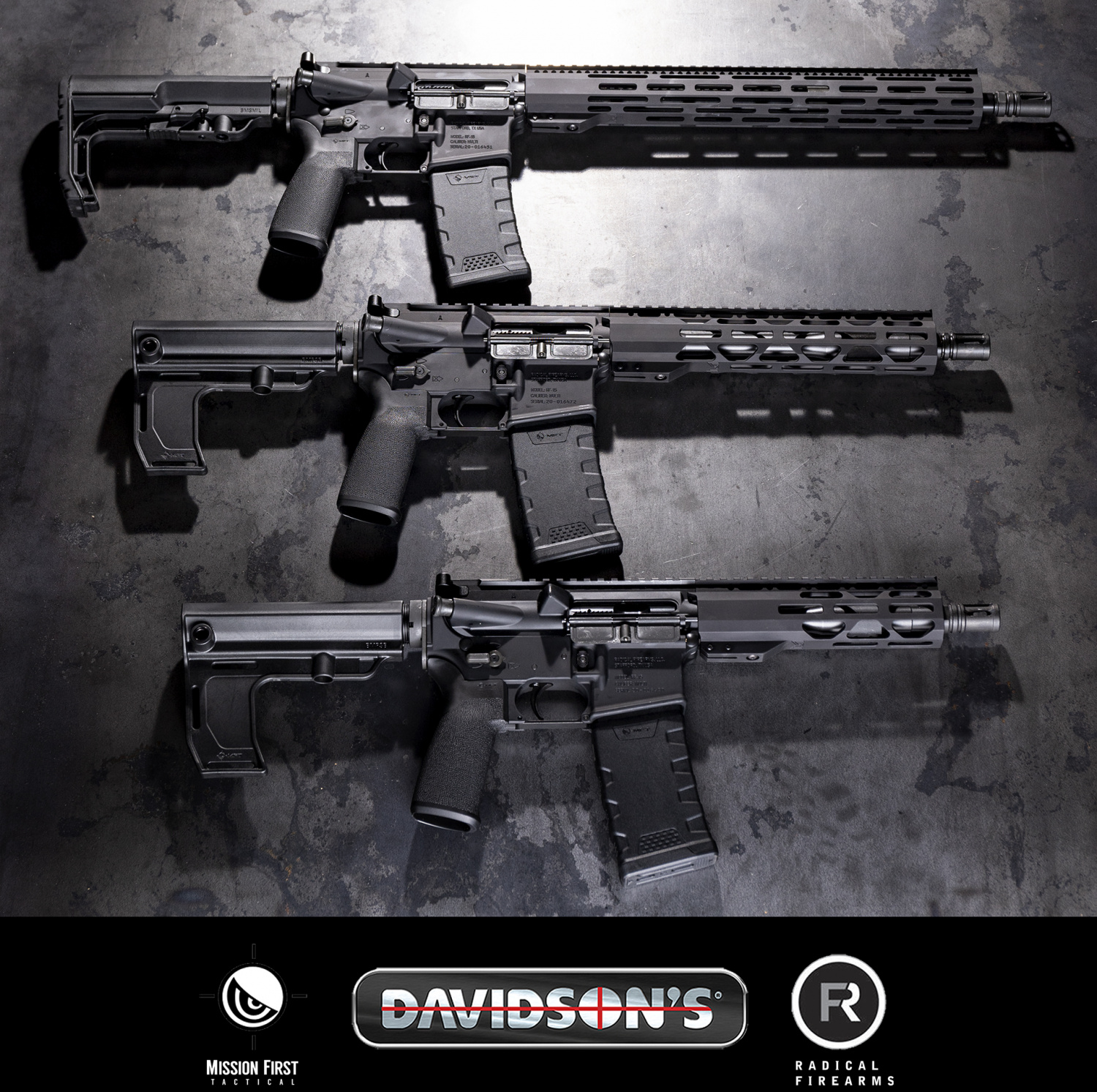 The three new Davidson's/Radical/MFT exclusives side-by-side.