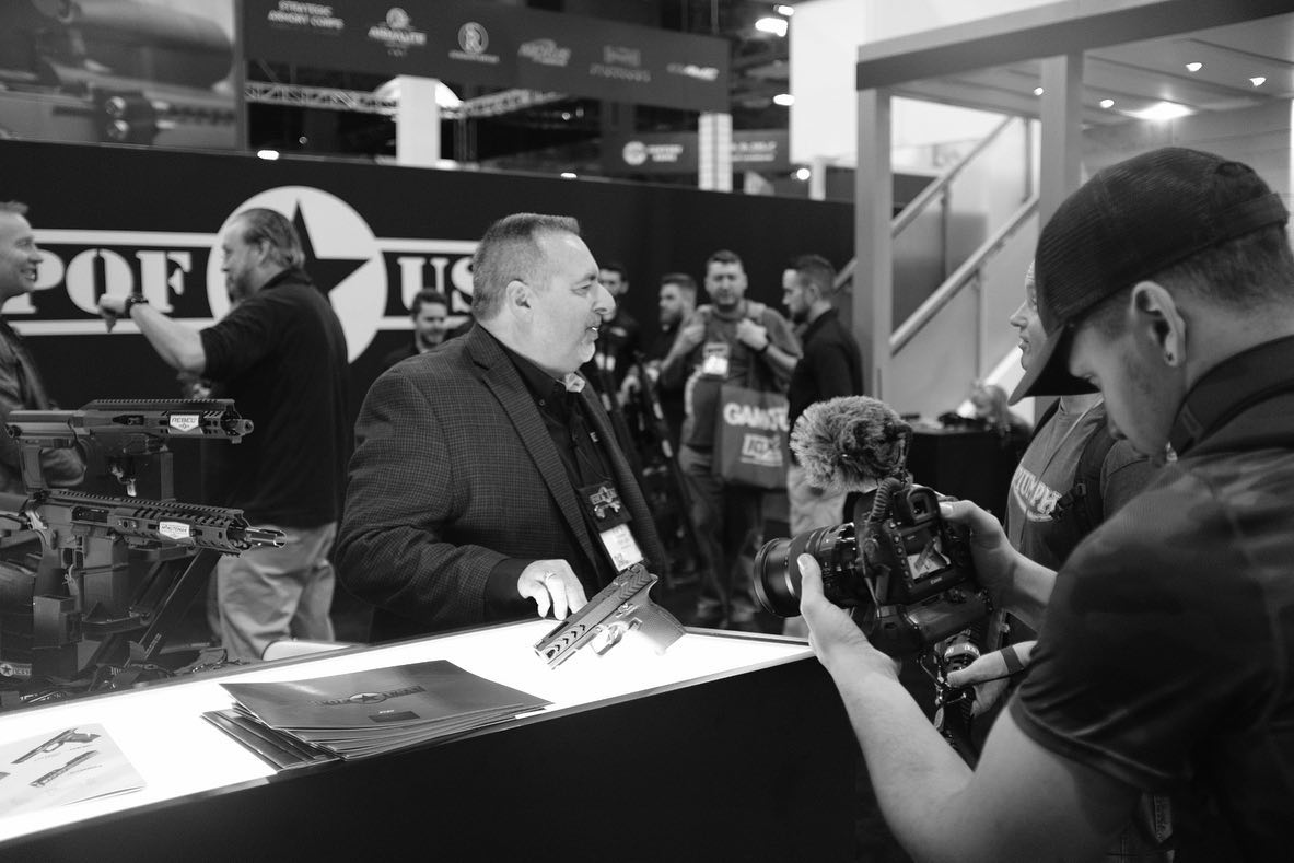 DeSomma is pictured manning the POF-USA booth at his last SHOT Show, in 2020.