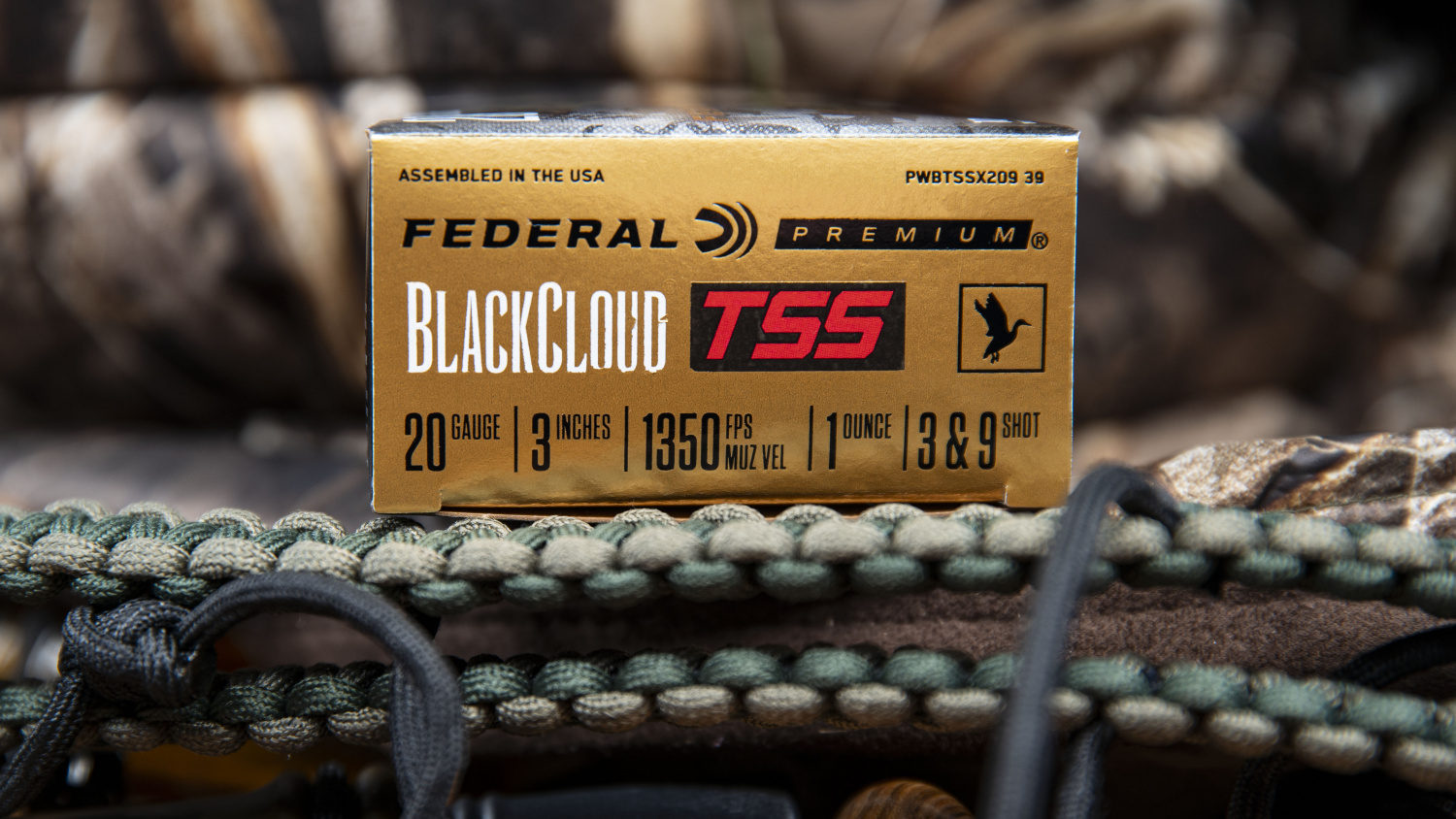 The Black Cloud TSS 20 Gauge's packaging with some pertinent info.