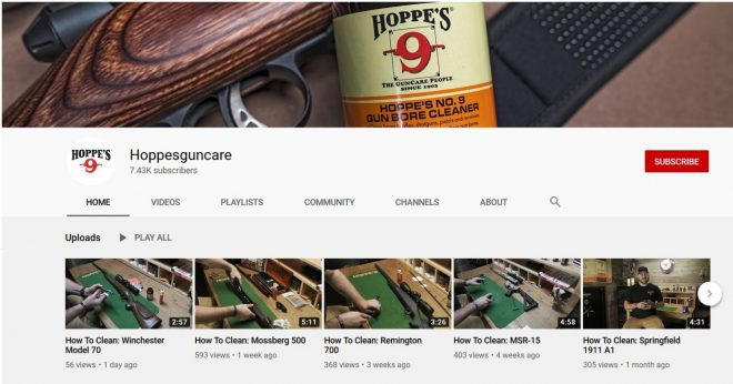 "Hoppe's ""How to Clean"" Video series is available now on YouTube."