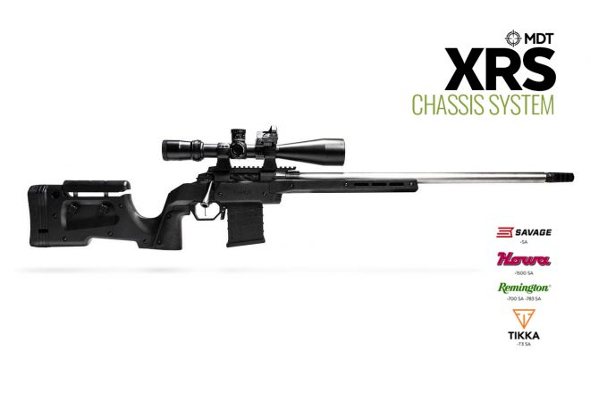 MDT's XRS chassis system is now available with Savage, Howa, Remington 783, and Tikka compatibility.