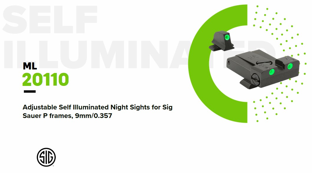 Meprolight's adjustable sights feature screws on the rear sight's side and top for windage and elevation.