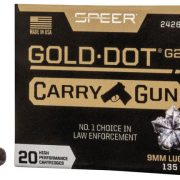 Speer's new Gold Dot G2 Carry Gun ammo, optimized for compact pistols.