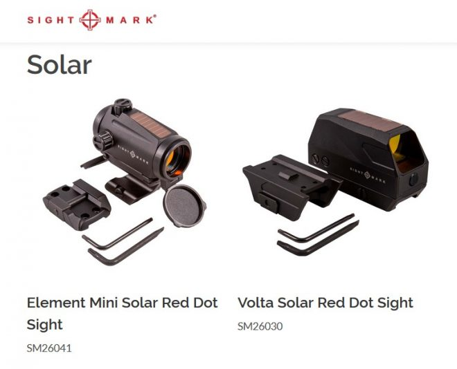 Sightmark's two new solar-powered red dots.
