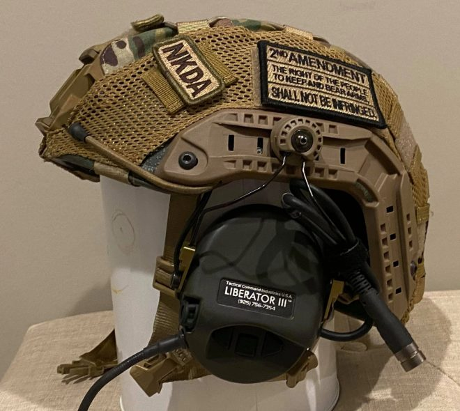 "The ""Tendy Defendy"" ballistic helmet from Citizen's Armor Co."