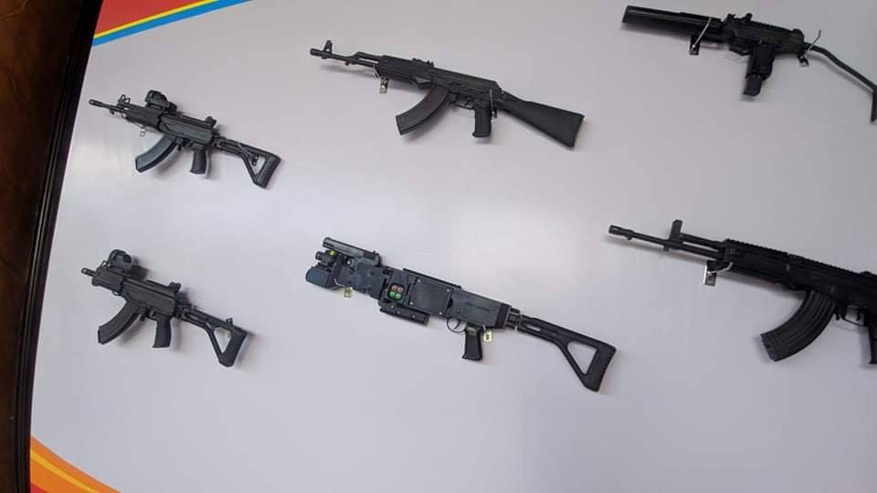 Vietnamese weapons display at the recent exhibition
