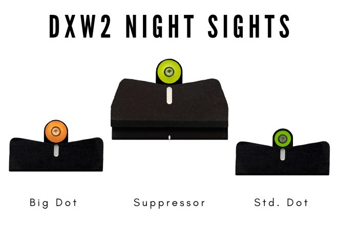 XS Sights' DXW2 line is one of their two product families getting new options.