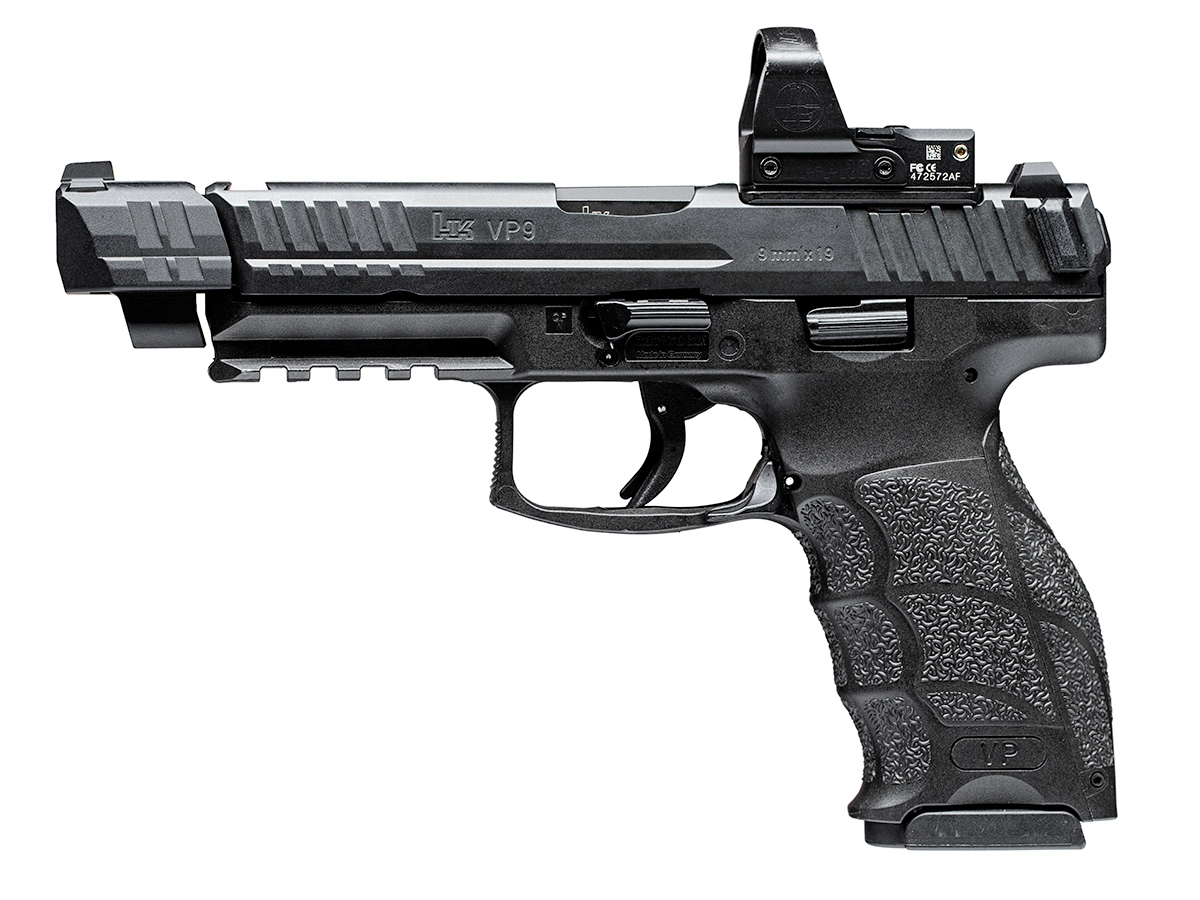 PMM Sight Tracker and Comp Tracker Muzzle Devices for H&K VP9 and P30 Pistols - x VP9 Sight Tracker Installed