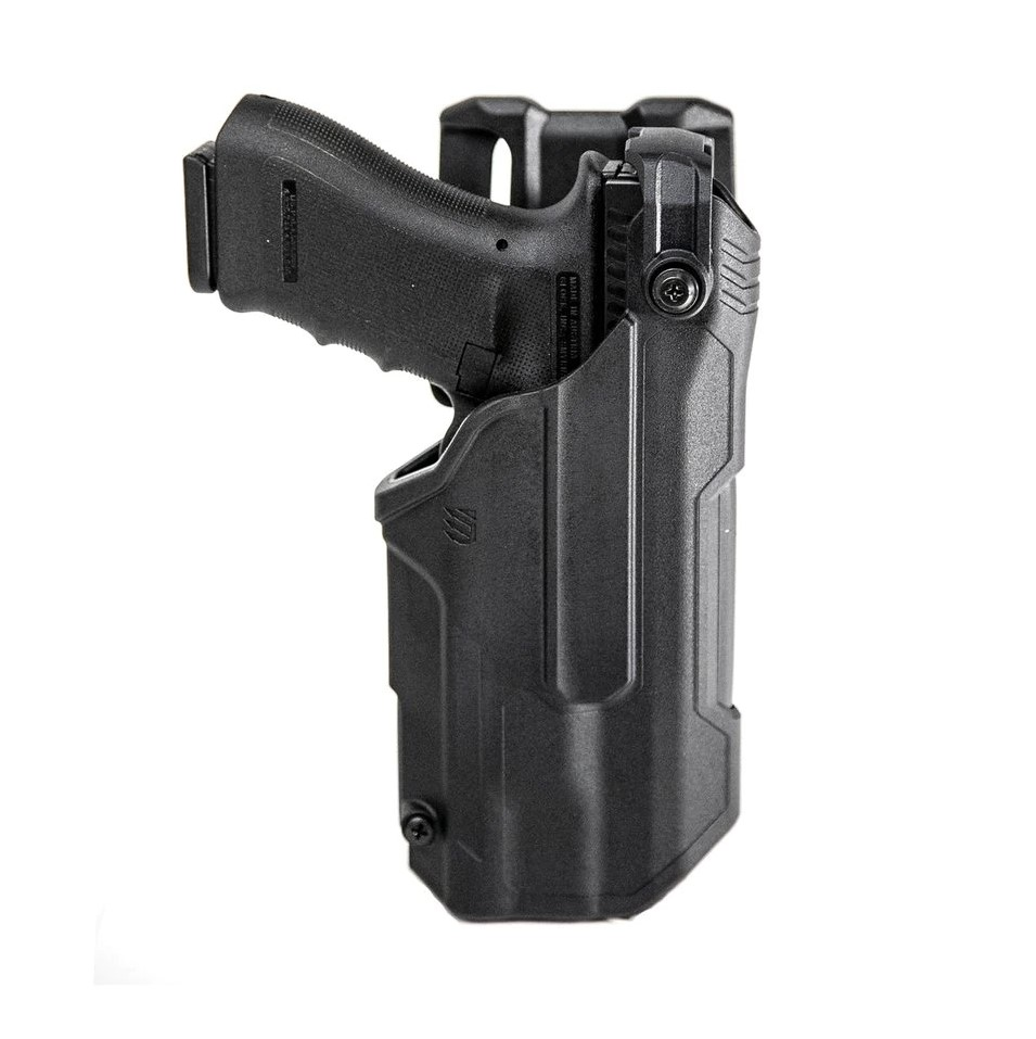 Shown here with a Glock instead of a P320, the Level 3 version provides additional retention.