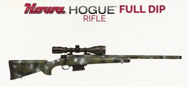 Howa's Hogue full dip camo rifle is now available in Kratos pattern.