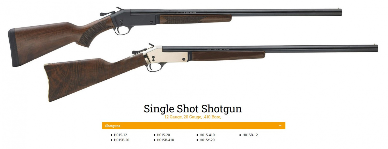 These are the shotgun models that are potentially affected.