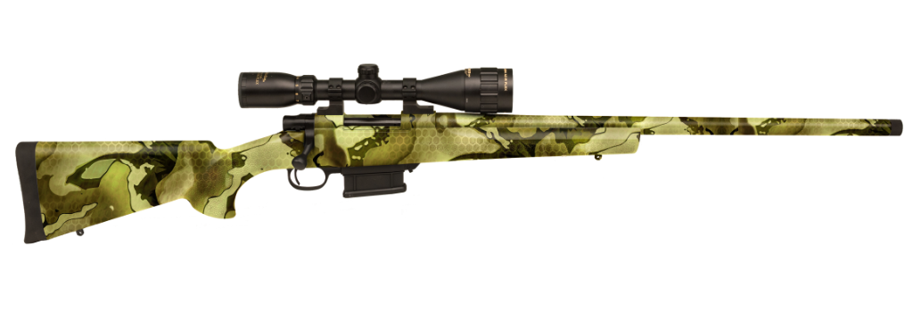 The Hogue-equipped bolt gun is also offered in this Favlos pattern.