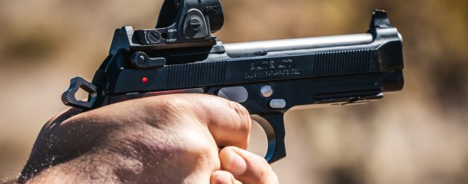 Langdon Tactical's new red dot-equipped Beretta 92.