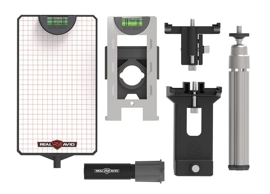 Shown here are the components that come with the Level-Right Pro kit.