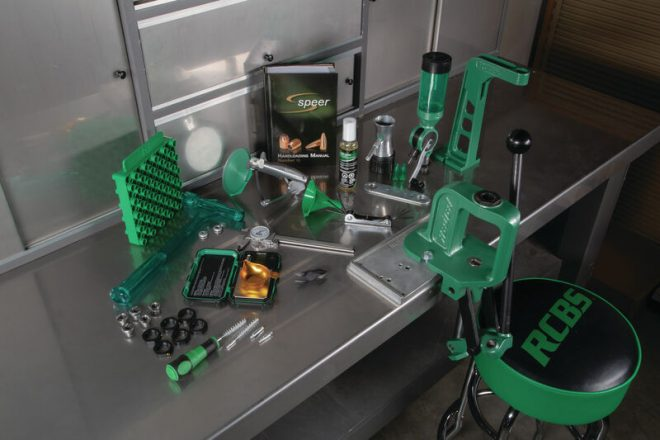RCBS has released five new all-in-one reloading setups, like the comprehensive Rebel Plus kit show here.