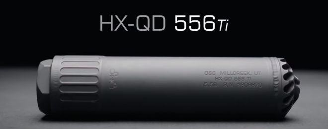 OSS Launches the New Helix HX-QD 556 Ti Lightweight Rifle Suppressor