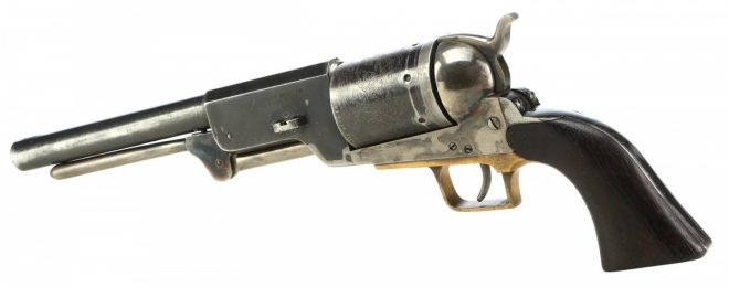 "This Colt Walker prop gun used by Clint Eastwood in the film ""The Outlaw Josey Wales"" will be sold at auction in August."
