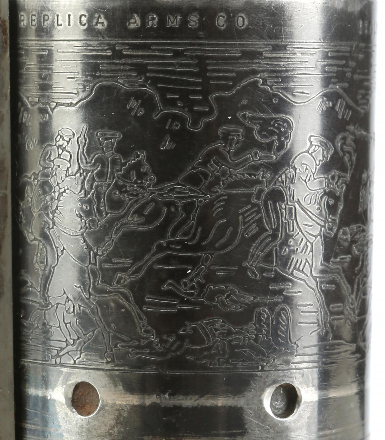 "A closeup of the Colt's cylinder highlights the intricate detailing needed to make a ""hero""-grade prop convincing on screen."