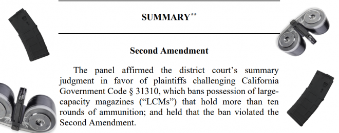 [BREAKING] 9th Circuit: California Magazine Ban Unconstitutional - Again
