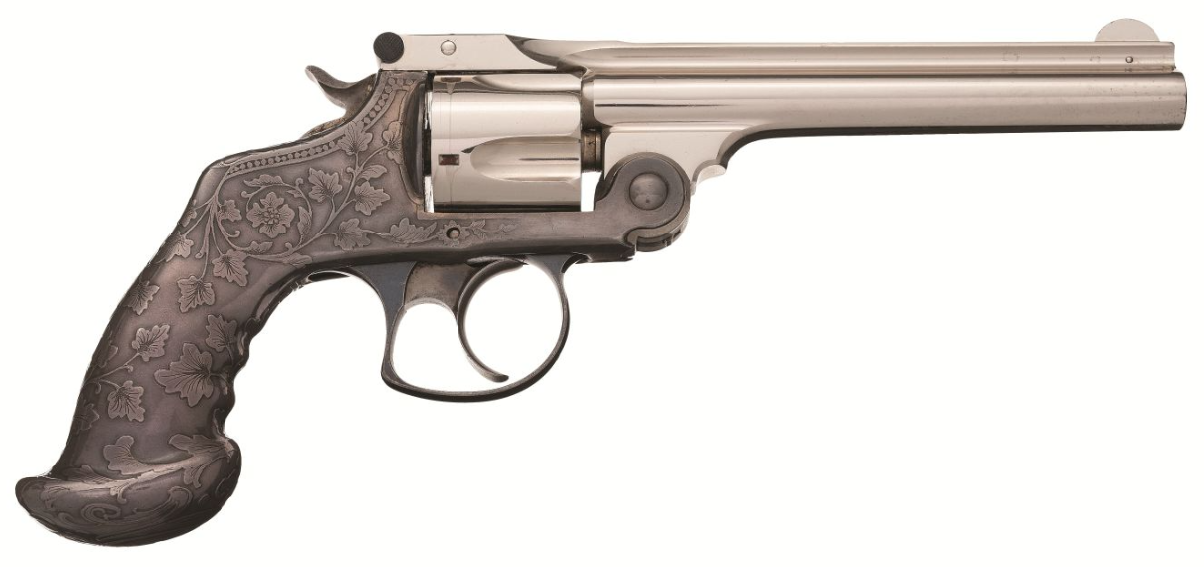 Tiffany & Co. Embellished Smith & Wesson .38 Double Action 3rd Model Revolver