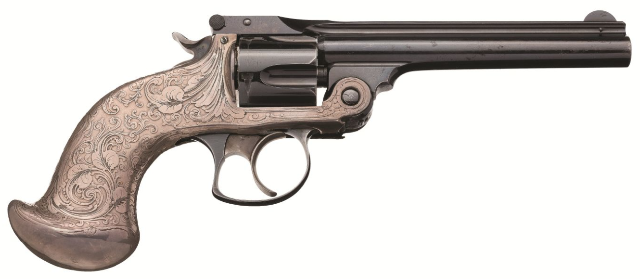 Tiffany & Co. Embellished Smith & Wesson .38 Double Action 4th Model Revolver