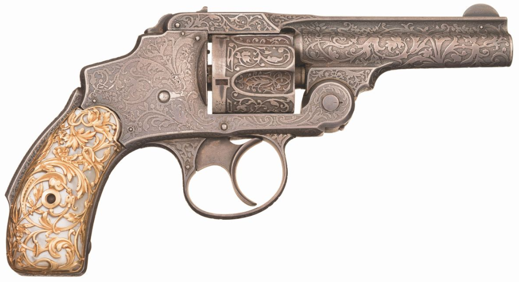 Tiffany Smith & Wesson .38 Safety Hammerless Revolver