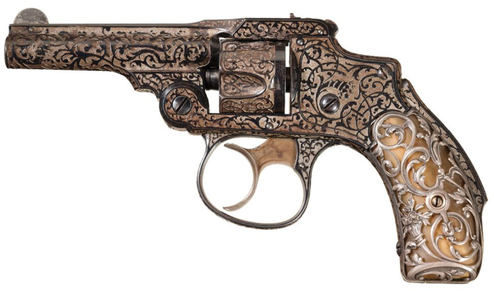 Wheelgun Wednesday - Tiffany & Co Revolvers - Tiffany Revolvers - S&W 32 Safety Hammerless (2)