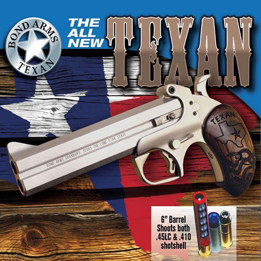 If the Backup's ease of concealment isn't your thing and you'd like a longer barrel, Bond offers the Texan.