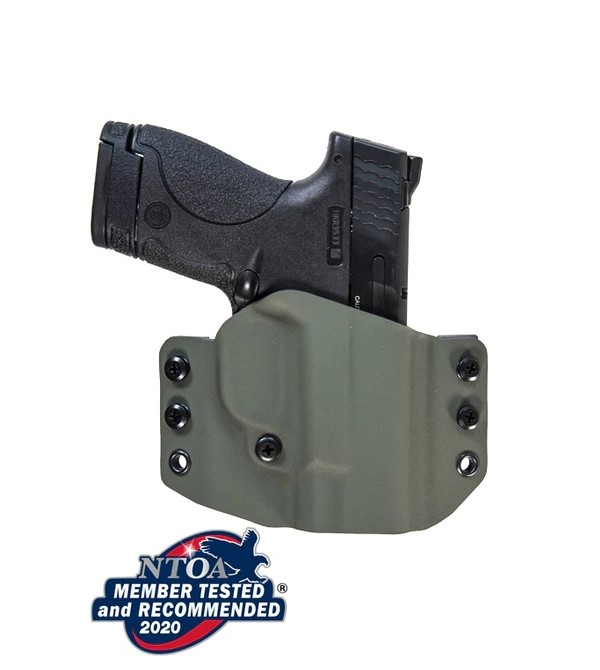 If OWB is your thing with the S&W EZ, Comp-Tac's Warrior holster may be the ticket for you.