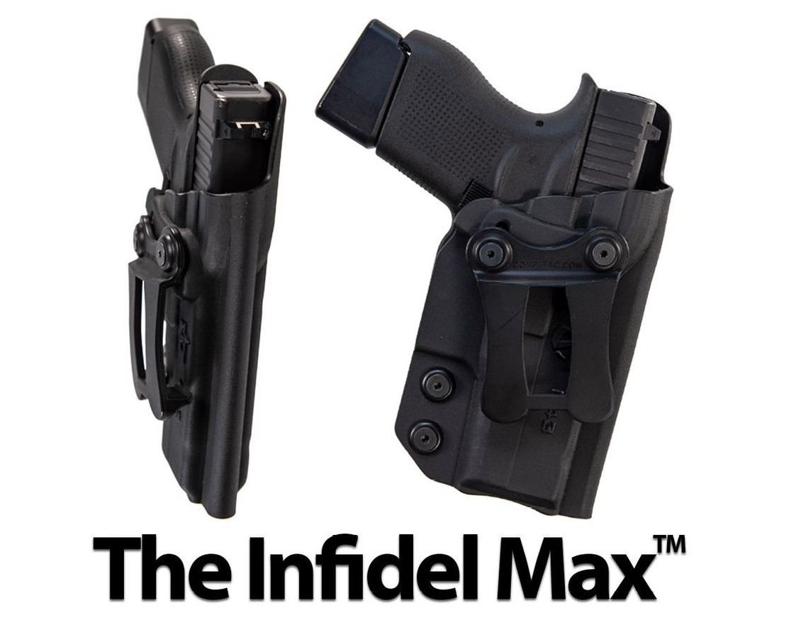 The all-kydex Infidel Max holster offers adjustable cant.