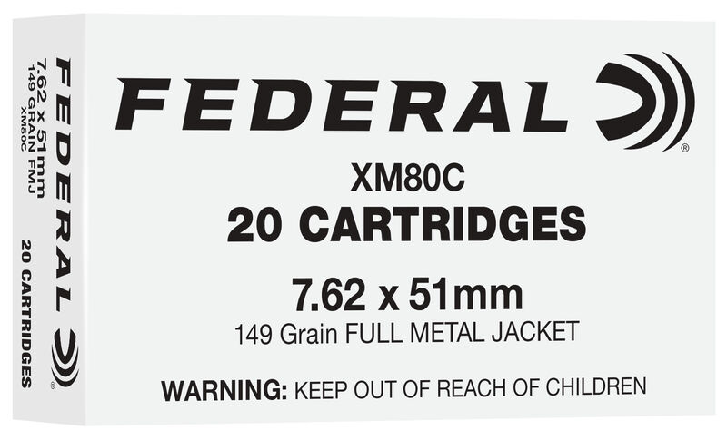 Another of Federal's current 7.62 offerings is this 149gr target load.
