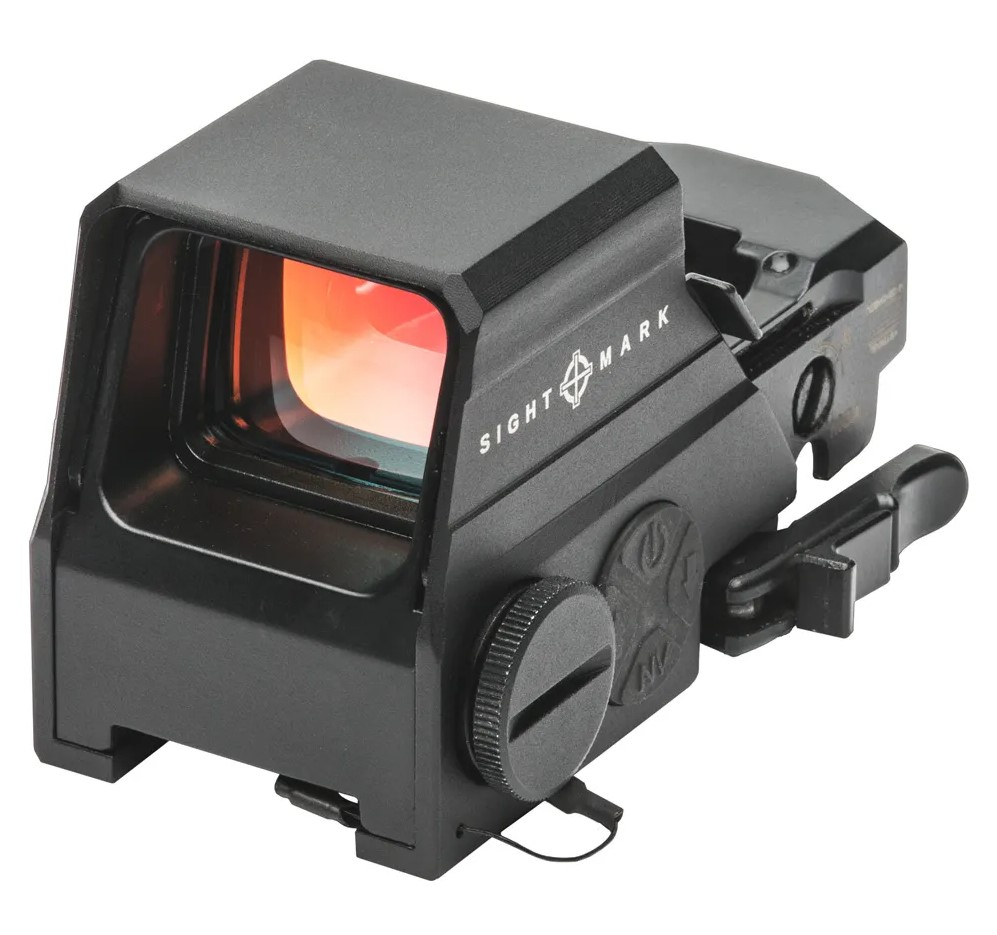 This is what the Ultra Shot sight is supposed to look like, when it hasn't been flambéed well-done.