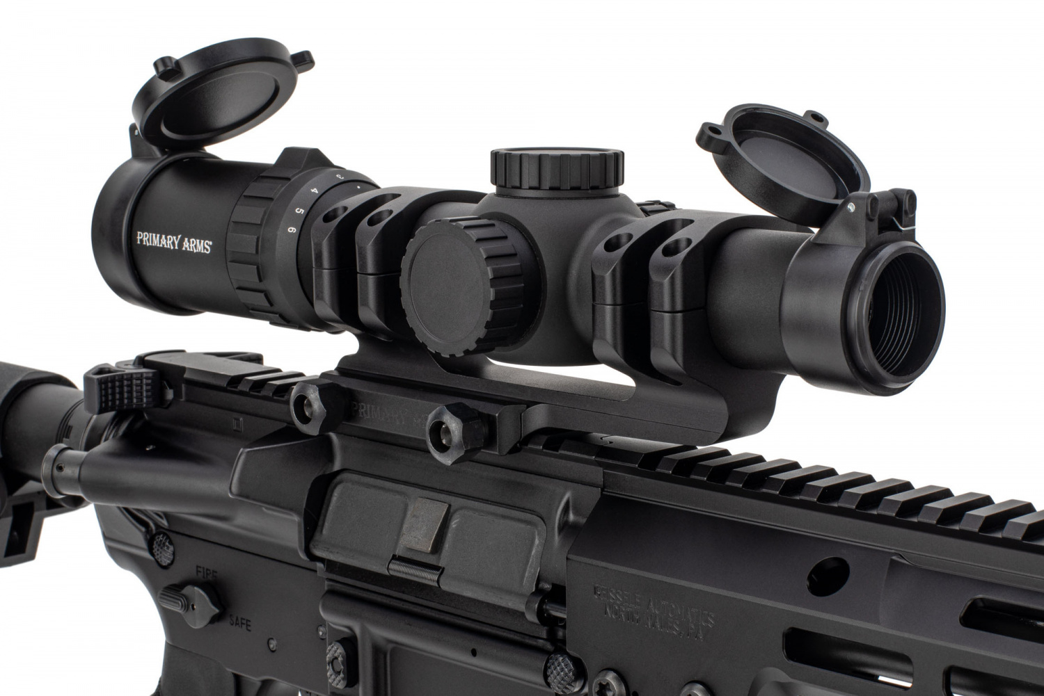 The SLx scope line is compatible with Primary Arms' accessories like the 30mm mount shown here.
