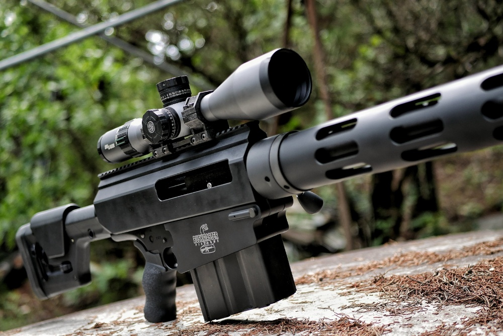 Black Collar Arms Forged Carbon mount on a Bushmaster .50 BMG