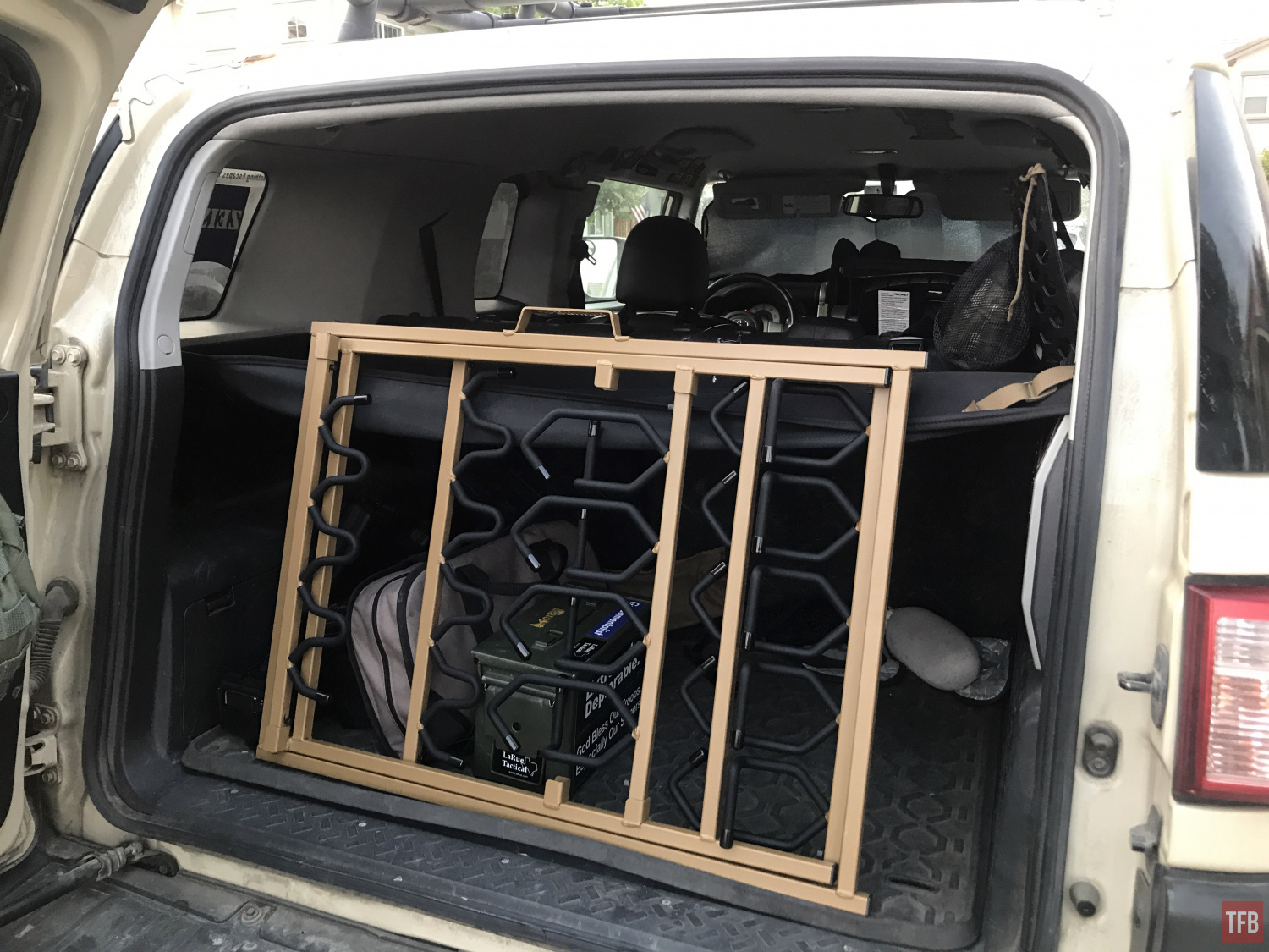 shorty rifle rack in the back of my FJ